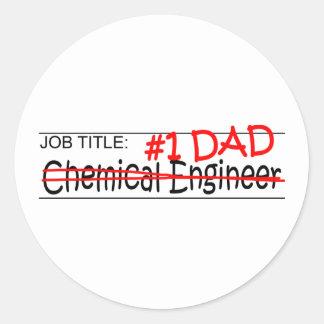 Job Dad Chem Eng Round Sticker