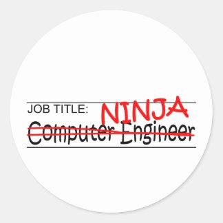 Job Title Ninja - Comp Eng Round Sticker