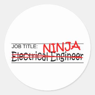 Job Title Ninja EE Round Sticker