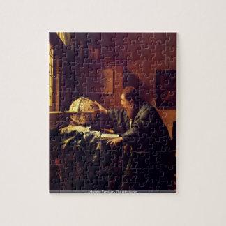 Johannes Vermeer - The astronomer puzzle