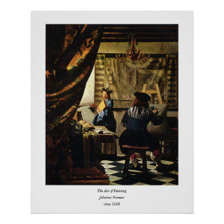 Johannes Vermeer's The Art of Painting circa 1668 Poster