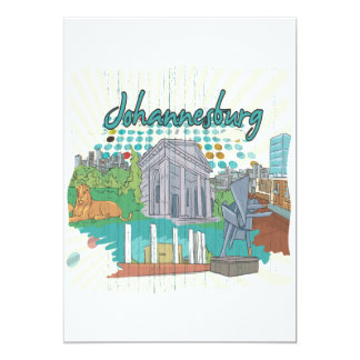 Johannesburg 13 Cm X 18 Cm Invitation Card