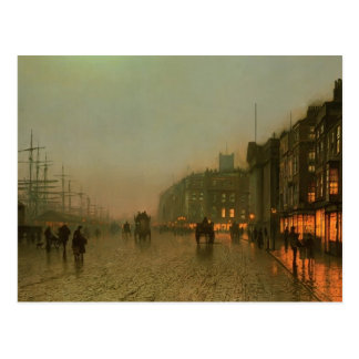 John Atkinson Grimshaw- Liverpool from Wapping Postcard