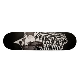 Johnny Crash Black Logo Skate Deck