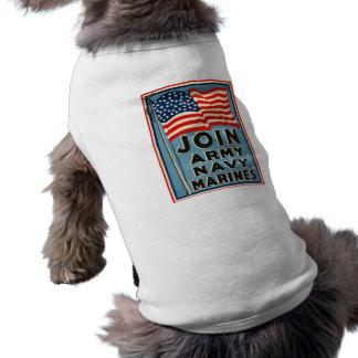 Join Army, Navy, Marines WPA 1917 Sleeveless Dog Shirt