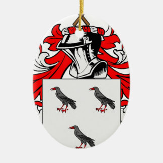 Jones (English) Coat of Arms Ceramic Oval Decoration