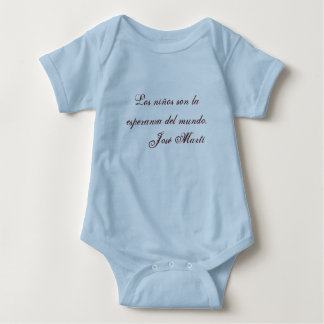 Jose Marti Poetry baby clothing 1 (blue) T-shirt