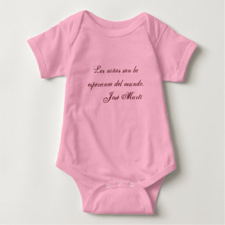 Jose Marti Poetry baby clothing 1 (pink) Tees