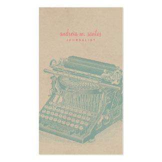 Journalist Vintage Typewriter Cool Mint Modern Pack Of Standard Business Cards
