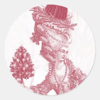 Joyeux Noel (rouge) Round Sticker