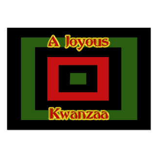 Joyous Kwanzaa Gft Tag Pack Of Chubby Business Cards