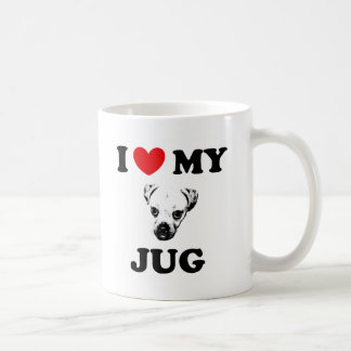 jug dog basic white mug
