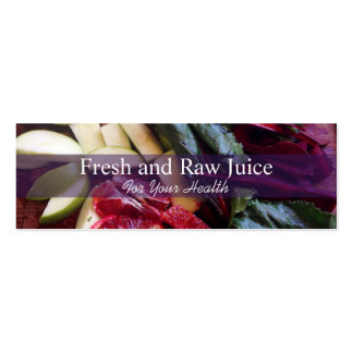Juicing Nutritionist Food and Diet Health Pack Of Skinny Business Cards