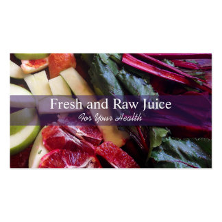 Juicing Nutritionist Food and Diet Health Pack Of Standard Business Cards