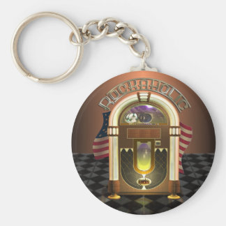 Jukebox Rockaholic Keychain