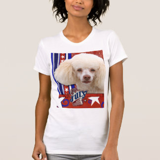 July 4th Firecracker - Poodle - White T-shirts