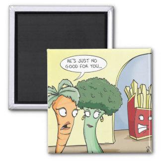 Junk Food Square Magnet