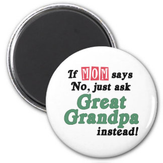 Just Ask Great Grandpa 6 Cm Round Magnet