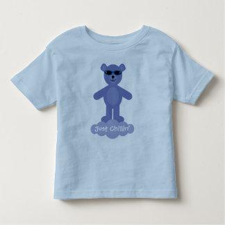 Just Chillin' Blue Teddy Bear With Sunglasses Tshirt