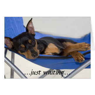 just waiting greeting card