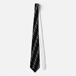 Juvenile Diabetes Grey Ribbon 3 Tie