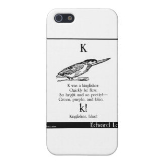 K was a kingfisher iPhone 5/5S case