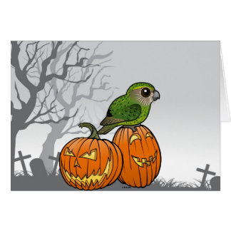 Kakapo Halloween Greeting Card