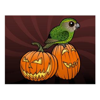 Kakapo Halloween Postcard