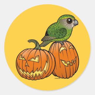 Kakapo Halloween Round Sticker