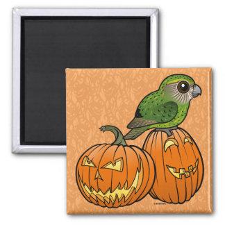 Kakapo Halloween Square Magnet