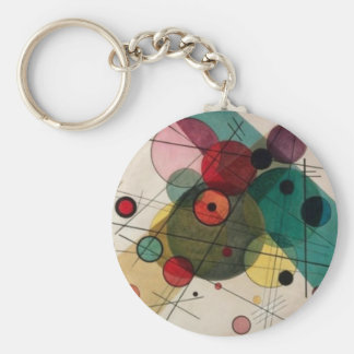 Kandinsky Abstract Circles Button Keychain