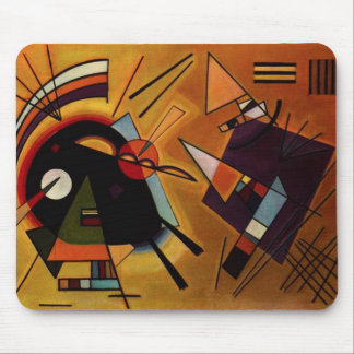 Kandinsky Black and Violet Mouse Pad