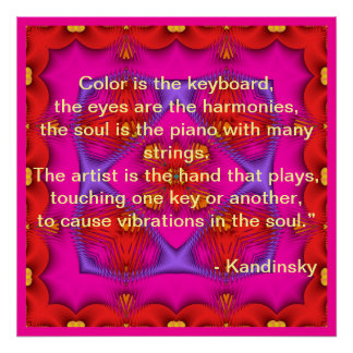 Kandinsky Quote Poster