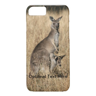 Kangaroo with Baby Joey in Pouch iPhone 7 Case