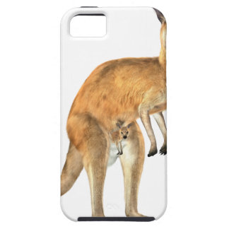 Kangaroo with Baby Joey Tough iPhone 5 Case