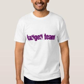 Kangen Team fancy font shirt purple letters