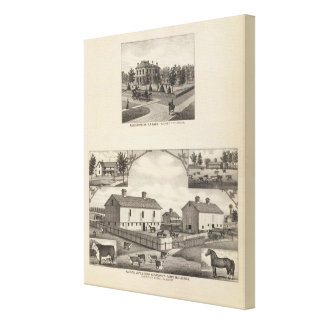 Kansas Live Stock County in Cawker City Gallery Wrapped Canvas