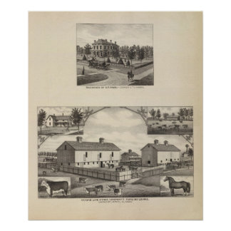 Kansas Live Stock County in Cawker City Poster