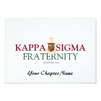 Kappa Sigma 13 Cm X 18 Cm Invitation Card