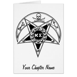 Kappa Sigma Badge Greeting Card