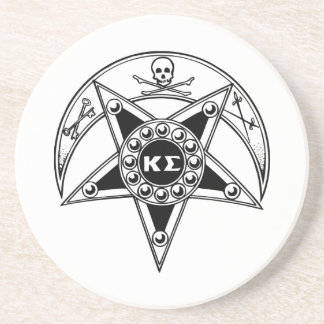 Kappa Sigma Badge Sandstone Coaster