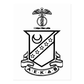 Kappa Sigma Crest - Black and White Postcard