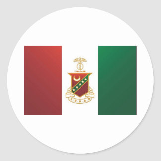 Kappa Sigma Flag Round Sticker