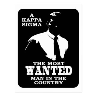Kappa Sigma - The Most Wanted Postcard