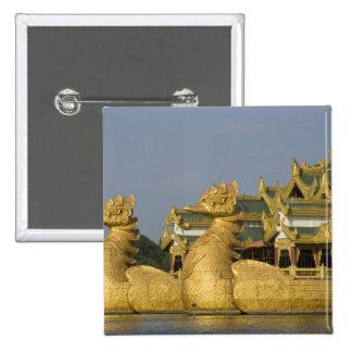 Karaweik Hall is a landmark of Yangon, locating 15 Cm Square Badge