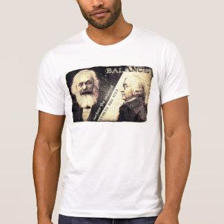 Karl Marx v Adam Smith, the zen of - words on back T Shirt