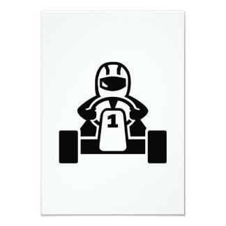 Kart racer 9 cm x 13 cm invitation card