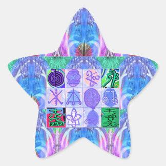 KARUNA Reiki Symbols : Artistic Rendering Star Sticker