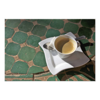 Kasbah Hotel and Restaurant, coffee and green Photo Print