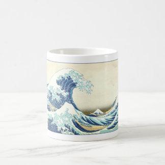 Katsushika Great Wave off Kanagawa Basic White Mug